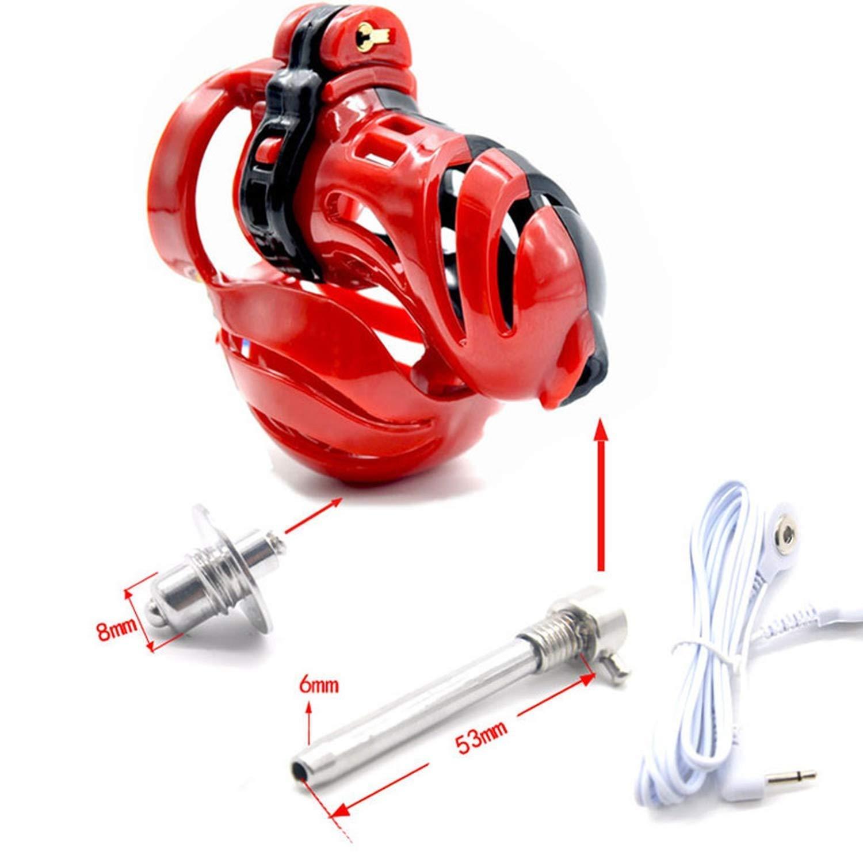 QGHFE SHIRT 3D Design Device Stretcher P`ênís Ring Electro Shock P`ênís Plug Electric Sexz Toys for Men Love of You,50mm