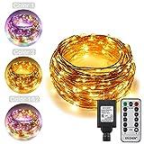 Best Outside Plug In Lights - ErChen Dual-Color LED String Lights, 66 FT 200 Review