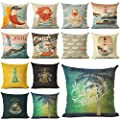 Paddy Geoffrey Hot Selling Ocean Style Man Linen Cotton Square Retro Floral Home Decor Throw Pillow Cushion Cover Cojines
