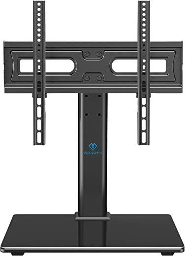 PERLESMITH Universal TV Stand Table Top TV Base for 32 to 55 inch LCD LED OLED 4K Plasma Flat Screen TVs – Height Adjustable TV Mount Stand with…