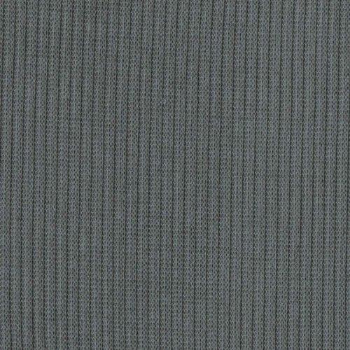 DK Cement Rib Knit Fabric Ribbing Fabric Sleeves Collar Gray Stretch Rib Fabric Ribbed Hacci Fabric by The Yard- 1 Yard