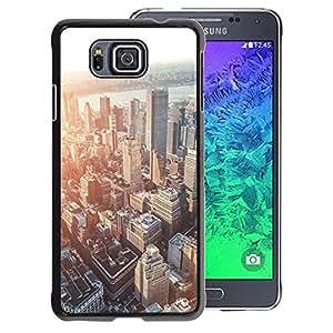 A-type Arte & diseño plástico duro Fundas Cover Cubre Hard Case Cover para Samsung ALPHA G850 (City Skyline Boston Sunset Architecture)