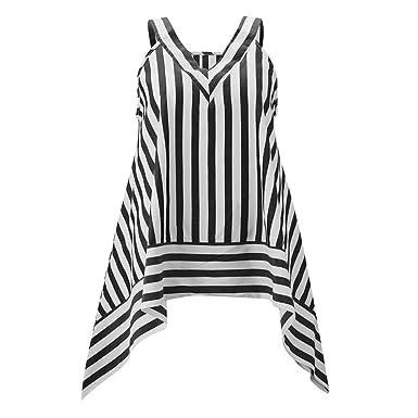 d0a020580297bc Kobay Women Tops, Ladies' Sleeveless Shirt Blouse Ladies Summer Casual Vest  Striped Tank Tops