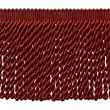 DecoPro 5 Yard Value Pack - 6 Inch Long CHERRY RED Bullion Fringe Trim, BFS6 Color E13 (15 Ft/4.5 Meters)