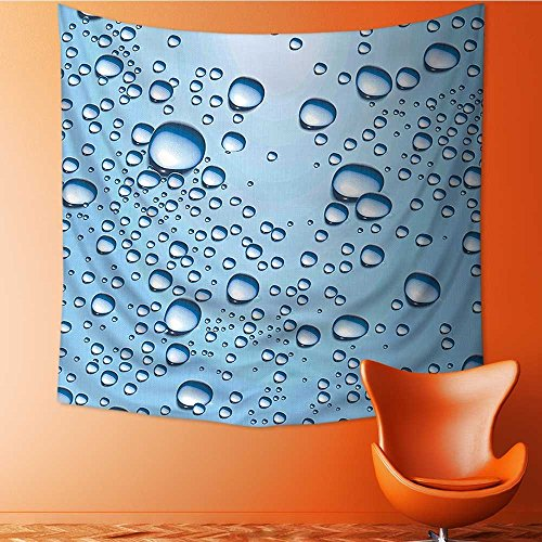 Popular art tapestry Water Marks Ice C Soda Commercial Like Glass Drops Ice Blue and White Room bedroom living room dormitory decoration32W x 32L Inch by L-QN