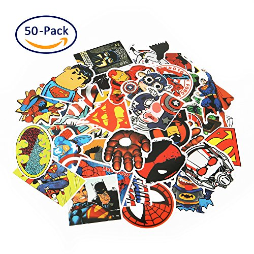 Echeer Marvel Superheros PVC Waterproof Cartoon Stickers for