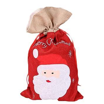 bqmqolove Bolsas Papá Noel de decoración de Dulces Grandes ...