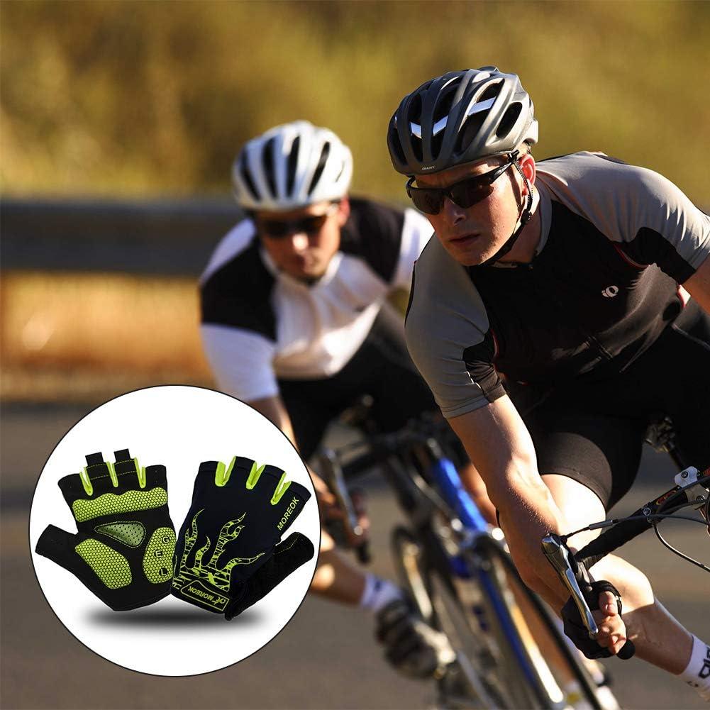 Gants V/élo Demi-Doigts Gants Sport Bicyclette Gants pour Hommes Femmes Rembourr/é Antid/érapage Alimagic Gants de Cyclisme Rouge S