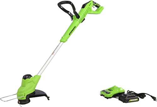 Greenworks 24V 12 TORQDRIVE String Trimmer, 2Ah USB Battery and Charger Included ST24B212