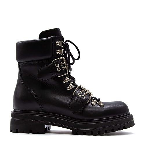 Albano Mujer 8056BLACK Negro Cuero Botines: Amazon.es: Zapatos y complementos