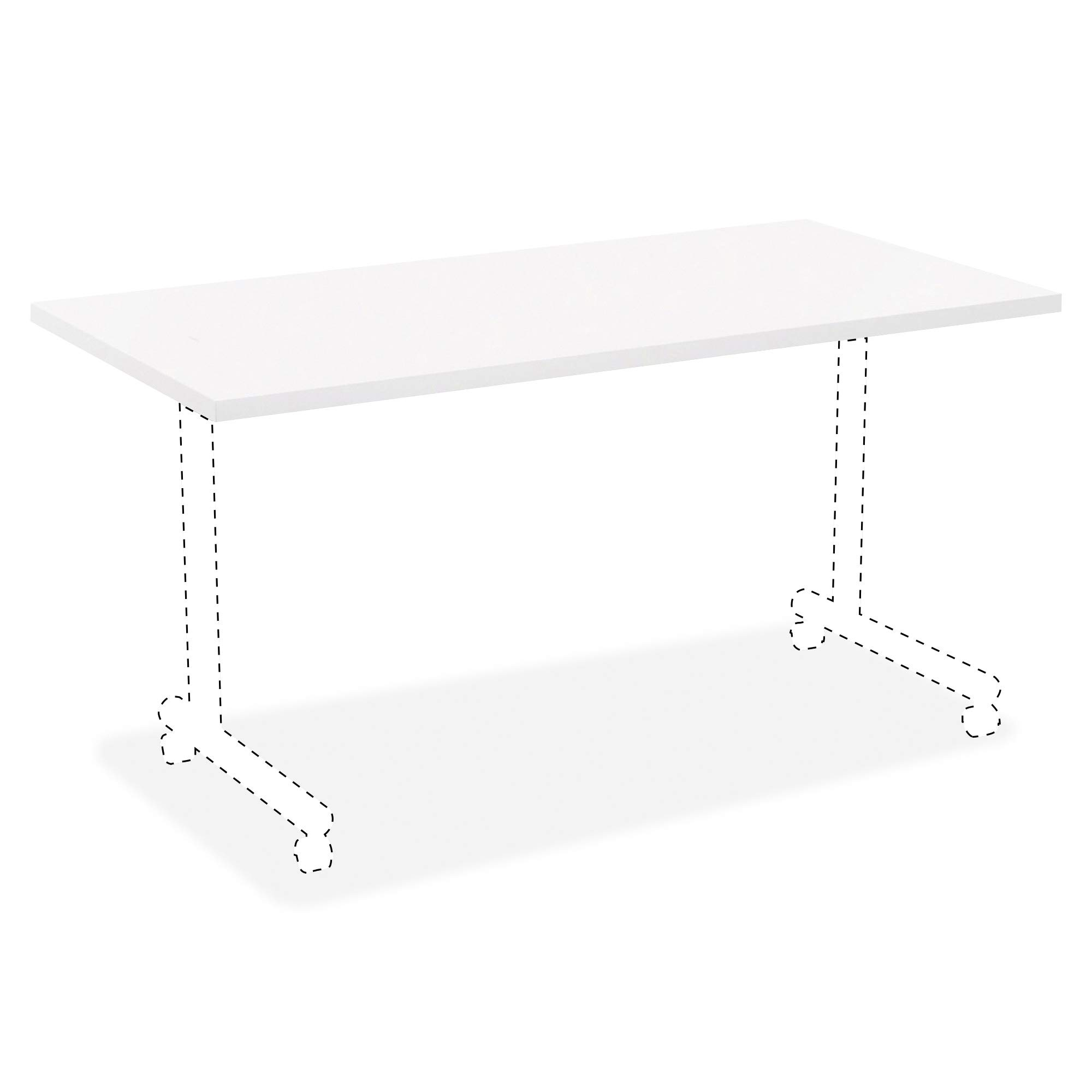 Lorell 99860 Invent Table Top, Thermofused (TFL), Laminate,White by Lorell