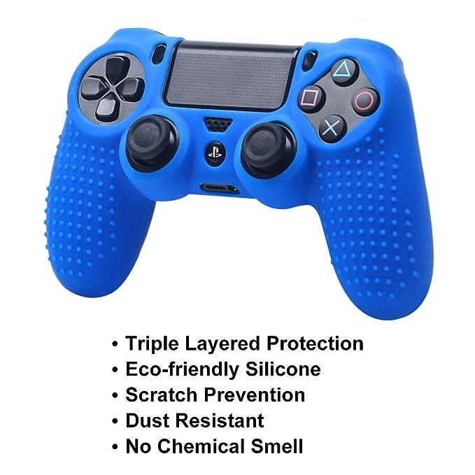 Amazon.com: DualShock 4 - Juego de protectores de silicona ...