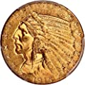 1915 S $5 Indian Gold Five Dollar MS62 PCGS\CAC