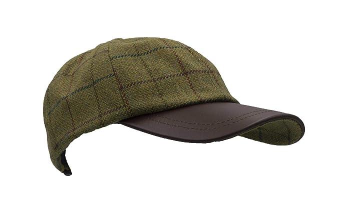 ffad1df1f Walker & Hawkes - Uni-Sex Derby Tweed Baseball Cap Leather Peak ...