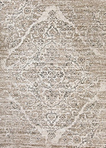 Persian-Rugs 8x10 4620 Distressed Beige 710x106 Area Rug Carpet Large New