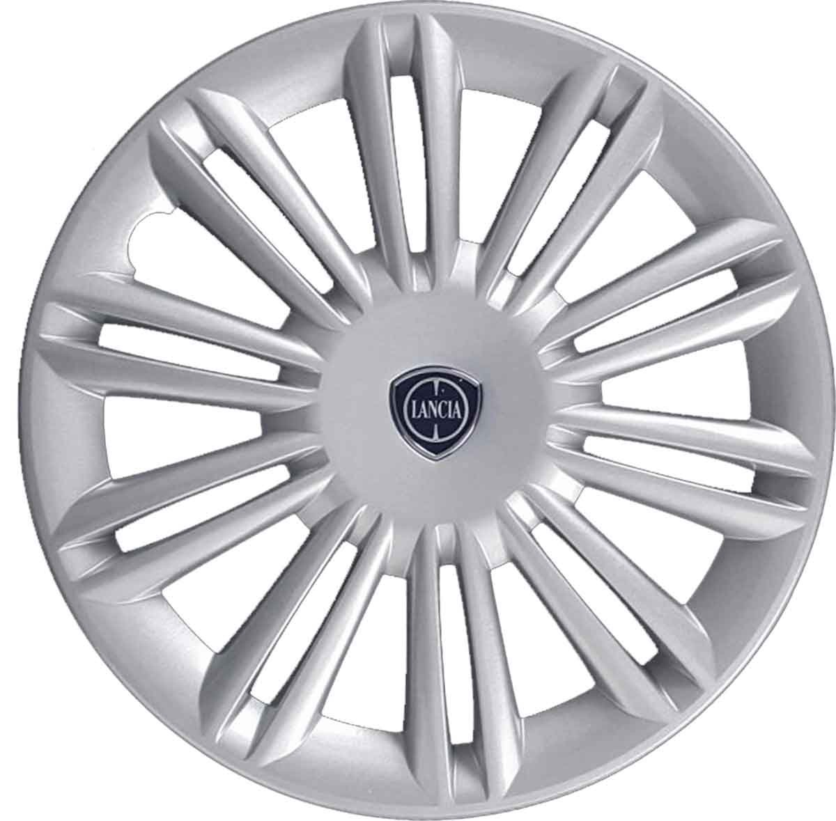 Wheel trim cover cup Rose JSS412- 15 Lancia Ypsilon 2003 Onwards Not Original Aftermarket