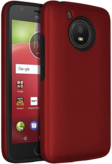 purchase cheap 8bd02 505e0 Moto E4 Case,SENON Slim-fit Shockproof Anti-Scratch Anti-Fingerprint  Protective Case Cover For Motorola Moto E4 / Moto E 4th Generation,Red