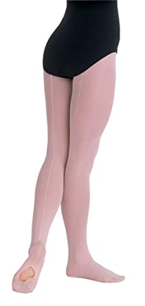 19006d64f7c49 Body Wrappers C45 TotalSTRETCH Girls' Mesh Backseam Convertible Tights  (4-6, Ballet