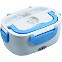 Electric Lunch Box for Fresh and Hot Food, Blue and White