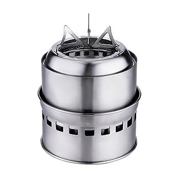 Portátil estufa de Camping Alcohol estufa de leña de acero inoxidable para Picnic para barbacoa