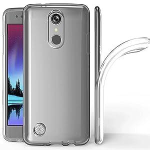 LG K20 Plus Case, LG K20V K20 V Case, LG Harmony Case, K10 2017/LG V5/Grace LTE Case Clear, Skmy Soft TPU Case Crystal Transparent Slim Anti Slip Case Back Protector Case Cover for LG K10 2017 (Clear)