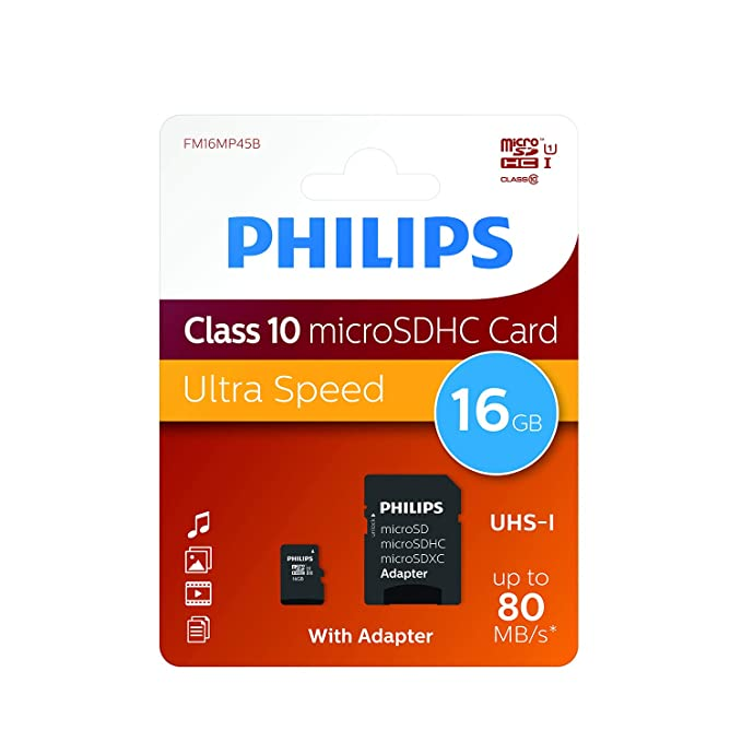 Amazon.com: Philips 16 GB Class 10 Tarjeta de memoria Micro ...