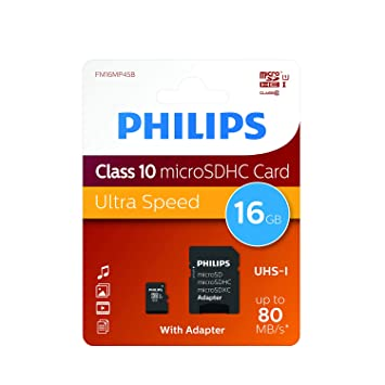 Amazon.com: Philips 16 GB Class 10 Tarjeta de memoria Micro ...