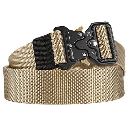 Men's Tactical Belt Heavy Duty Webbing Belt Adjustable Military Style Nylon Belts with Metal Buckle by KingMoore (Image #1)'