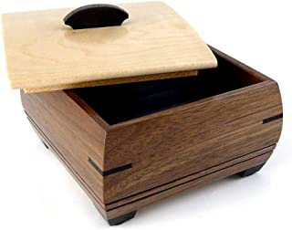 product image for Modern Artisans American Handmade Wood Ring and Cufflink Box - Natural Walnut and Maple