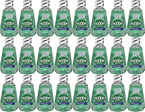 Travel Size Mouthwash - Scope Outlast Mouthwash, Long Lasting Mint, Travel Size, 1.2 Fl Ounce (Case of 24)