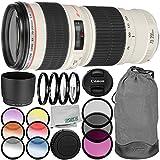 Canon EF 70-200mm f/4L USM Lens 9PC Kit - Includes 3PC Filter Kit (UV-CPL-FLD) + 4PC Macro Filter Set (+1,+2,+4,+10) + 6PC Graduated Filter Kit + MORE - International Version (No Warranty)
