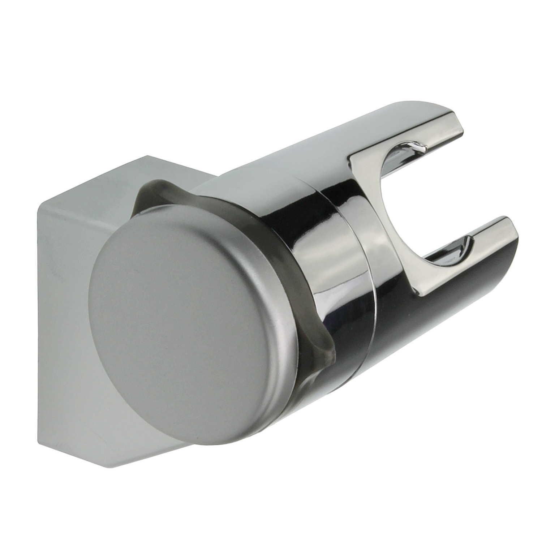 Supporto doccia senza forare angolo di inclinazione regolabile ABS cromato mantiene Stabile e resistente   supporto da parete per doccia testa   Supporto per doccia a mano SANIXA