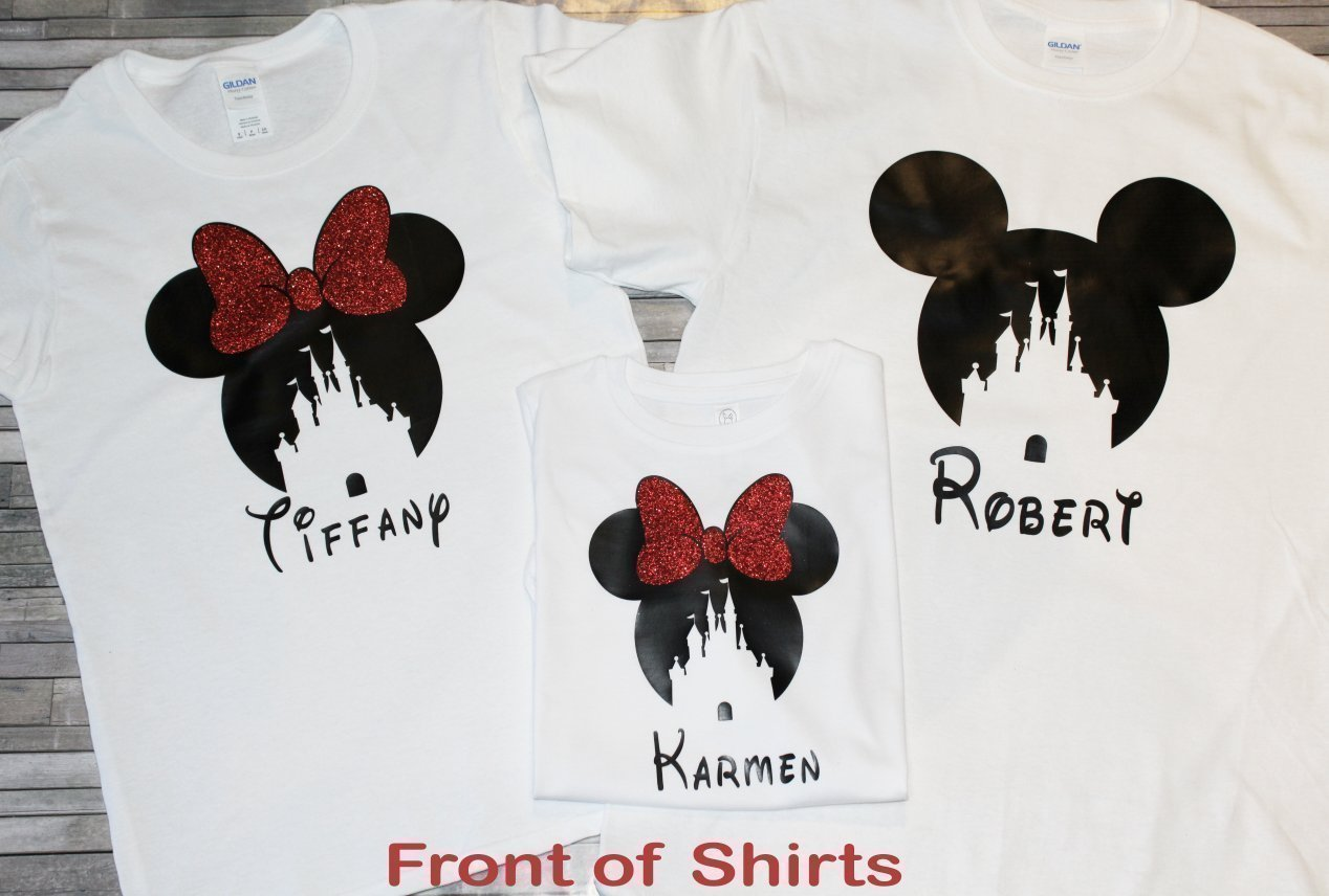 Disney Shirts For Family Matching/Matching Disney Shirts/Disney Vacation Shirts/Minnie Ears/Mommy Daddy Trip Red Black White Minnie Mouse Mickey Mouse 2018