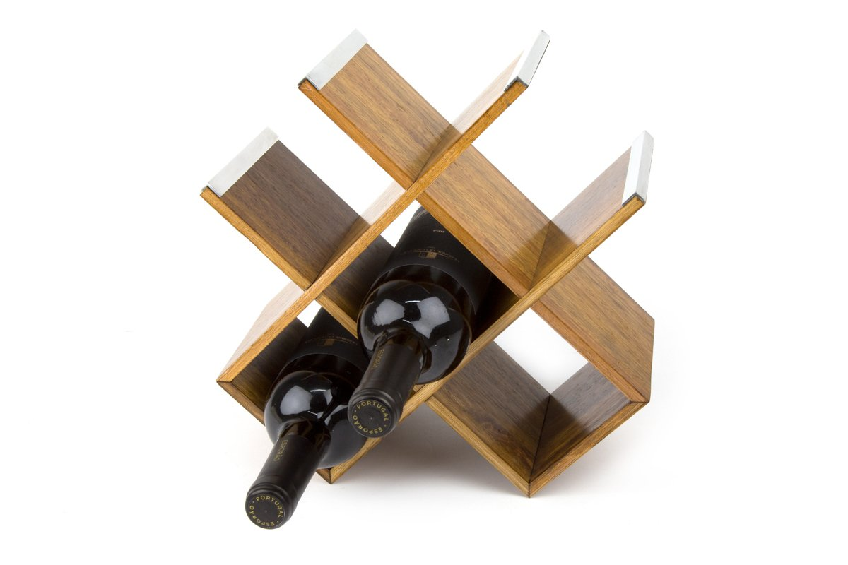 WoodArt Wine Rack- Free Standing, No Assembly Required (6 bottles, Butterfly)