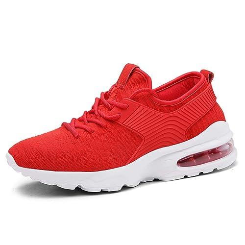 Dieser rote Damen Lifestyle Sneaker für den schmalen Fuss