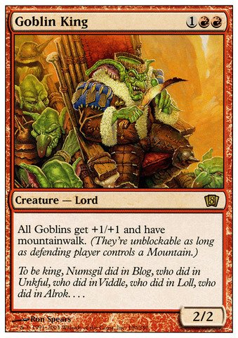 Magic: The Gathering - Goblin King - Eighth Edition (The Gathering Goblin Magic King)