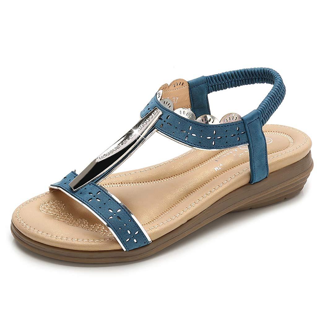 Mzq-yq Sommer Schuhe Frau Sandalen Flip Flops, Bunte diamantdekoration Komfortable Anti Slip Weichen Boden Flache Frauen Hausschuhe Sandalen  | Sonderpreis  | Die Farbe ist sehr auffällig  | Ausgezeichnetes Preis