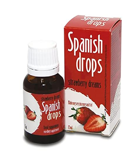 Spanish Drops Strawberry Dreams estimula el rendimiento sexual con L-arginina y vitamina C 15