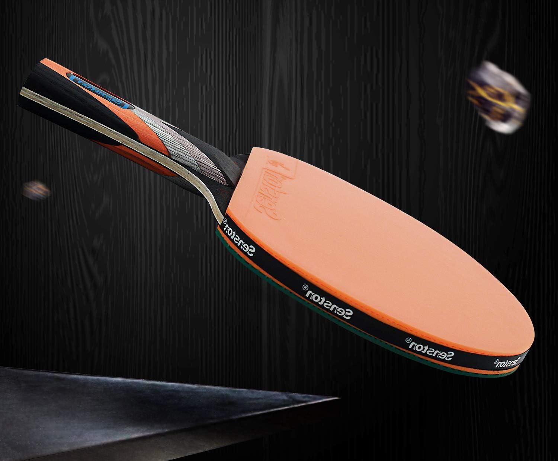 Jeu int/érieur ou ext/érieur Ping Pong Paddle Set Raquettes Premium avec /étui de Rangement Portable Ensemble Complet de Tennis de Table avec Vitesse et /élasticit/é avanc/ées