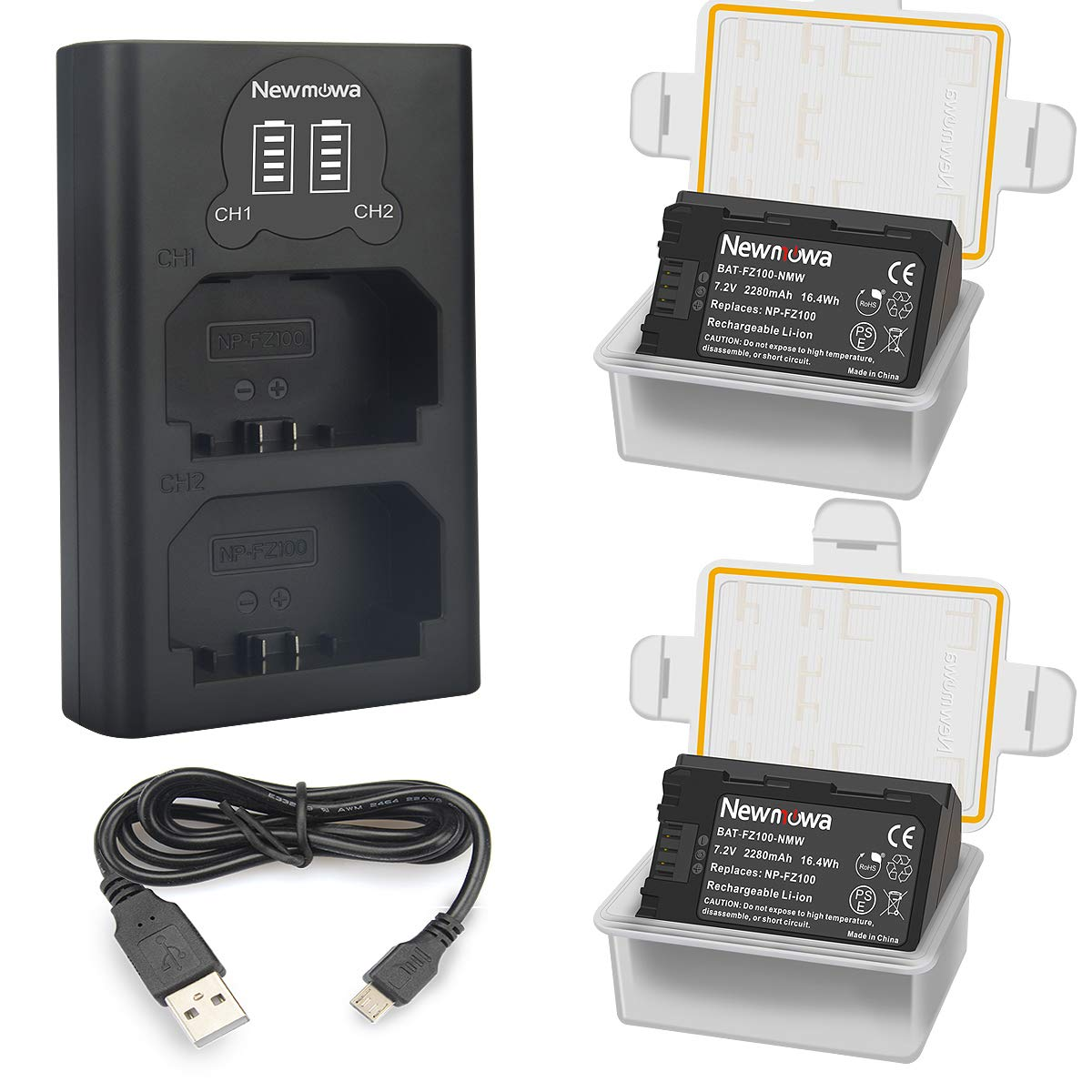 Newmowa NP-FZ100 Batería de Repuesto (Paquete de 2) y Smart ...