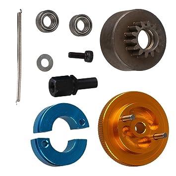 yiguo RC 1: 10 coche actualizar partes amarillo aleación de aluminio embrague 14t volante Set t10093: Amazon.es: Juguetes y juegos