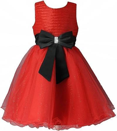 Boutique Magique Robe De Soiree Enfant Rouge Et Noir Mariage Ceremonie Amazon Fr Vetements Et Accessoires