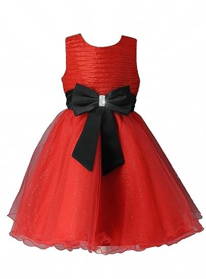 270442f5082 Boutique-Magique Robe de soirée Enfant Rouge et Noir Mariage cérémonie   Amazon.fr  Vêtements et accessoires
