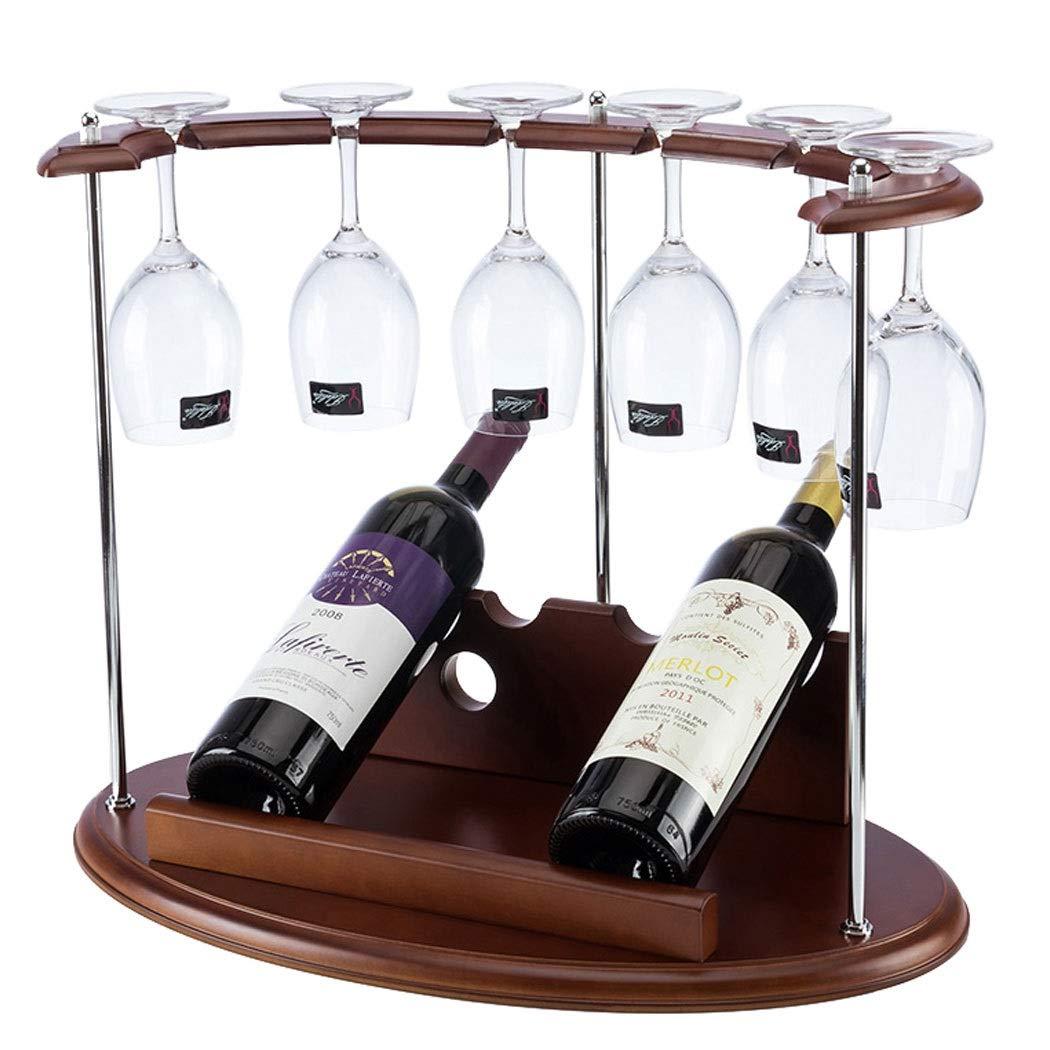 ログ木製ワインラックレトロ木製ワインラッククリエイティブワインラック逆さワイングラスラックぶら下げワインラック39 * 27 * 47 CM (色 : A) B07S7KXH2R A
