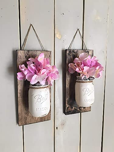 Amazon Floral Wall Sconce Individual Mason Jar Sconce Flower