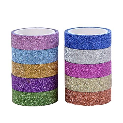 10pcs Washi Masking Tape Set calcomanía Cinta Decorativa Cinta de regalo DIY Craft Decoración Scrapbooking Sticker Sticky...
