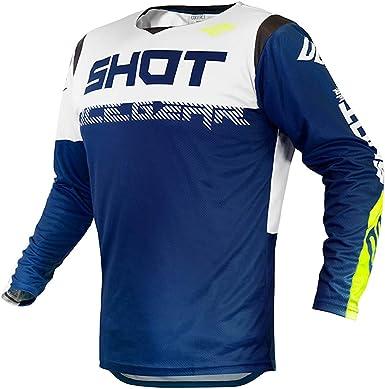 SHOT - Camiseta de cross Contact Trust navy azul blanco ...