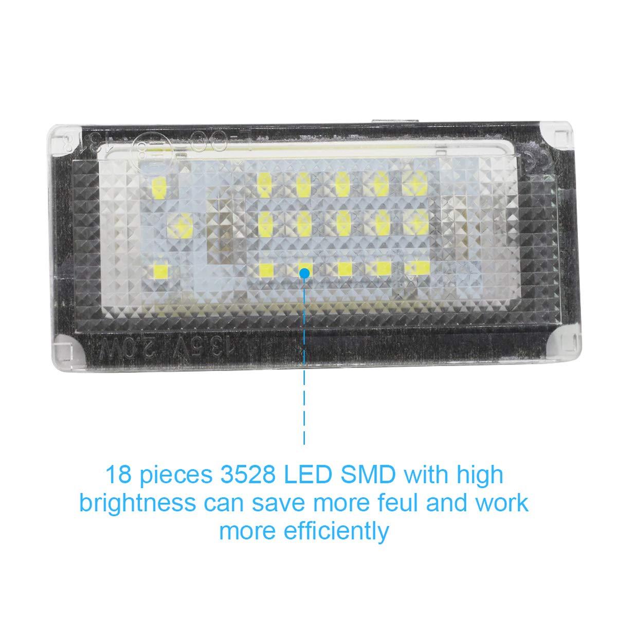 ZHUHAI HONGKANG DONGMAO TRADING CO LTD La Plaque dimmatriculation de la Voiture LED Allume Le Blanc 12V pour la Mini Cooper S R50 R52 R53 B//MW