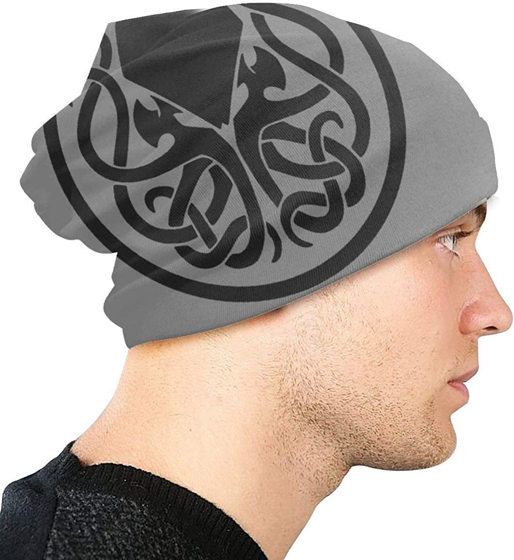 wwwwwww FeFeStore Berretto Lavorato a Maglia Call of Cthulhu Logo Unisex Beanie cap Stretch Beanie Hat Casual cap Men And Women Slouchy Beanie