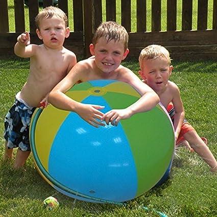 LOISLEILA Inflatable Water Balls Sprinkler Sprayer Kids Summer Outdoor Toys For Beach Garden Pool 75cm